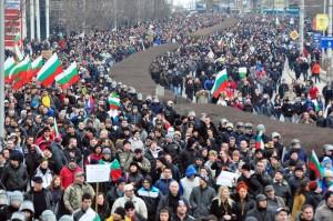 Варна, 17 февруари 2013г., протест срещу монополите.