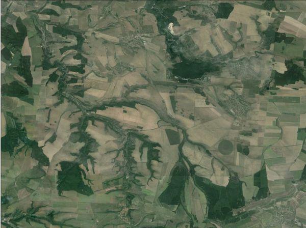 Така изглежда от Космоса околността на плевенското село Бохот. Изостаналостта на Северна България е отлична предпоставка за развитие на биоикономика