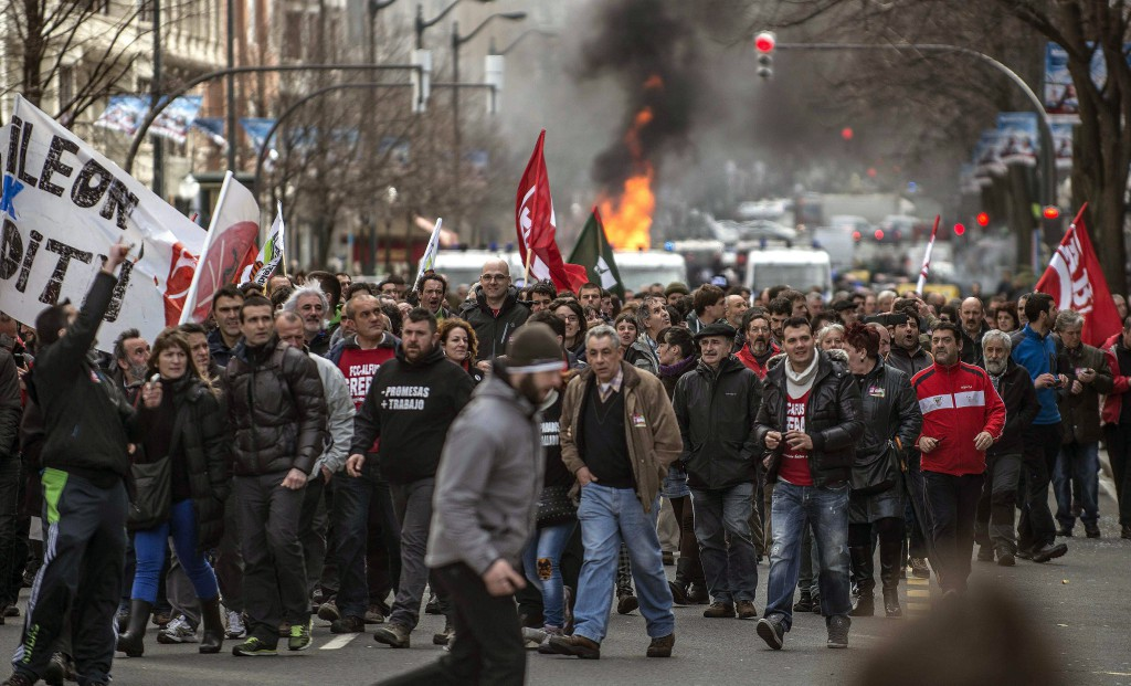 PROTESTS AGAINST AUSTERITY PLANS
