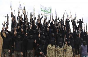 """Бойци от умерената, според Анкара, групировка """"Ахрар аш шам""""."""