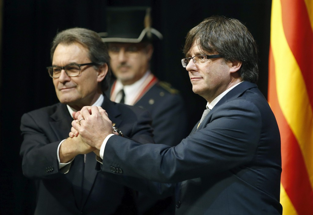 New Catalan regional president sworn in