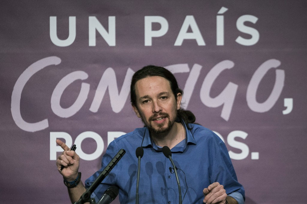 Spanish elections aftermath - Podemos press conference