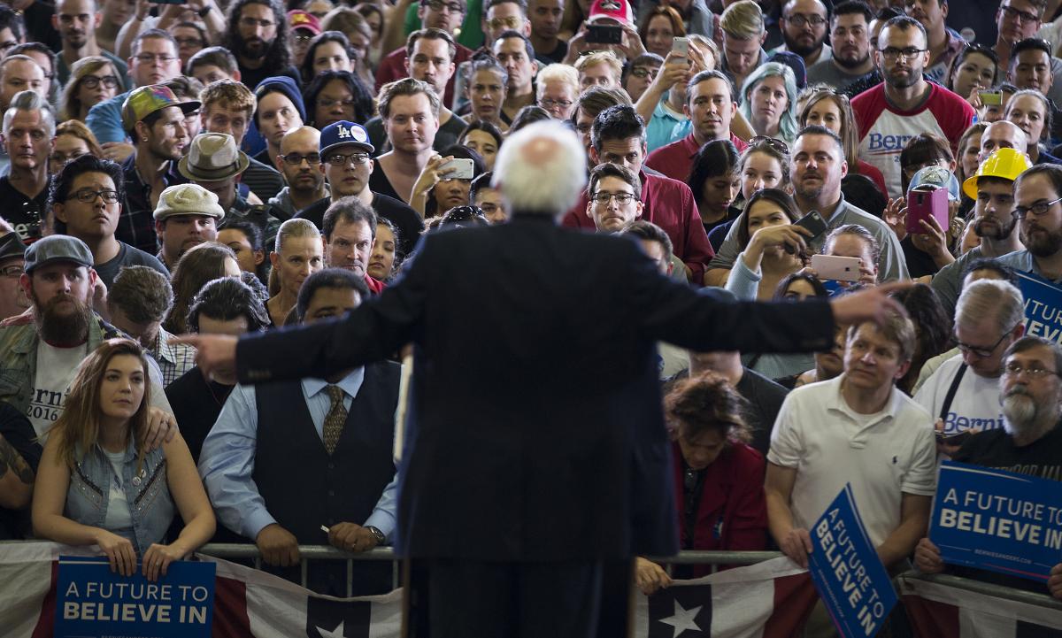 Пикети за възхода на Бърни Сандърс: Америка навлиза в нова политическа ера
