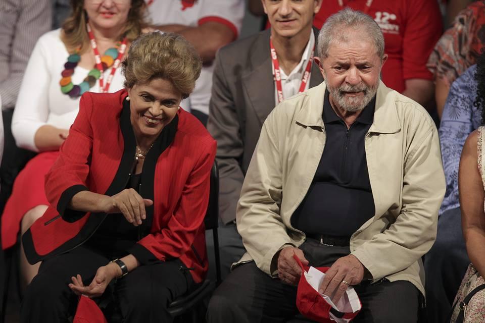 Президентката на Бразилия Дилма Русеф и нейният предшественик Лоиш Угнасио Лула да Силва