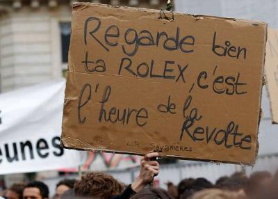 Франция: Погледнете Ролекса си внимателно, време е за бунт!