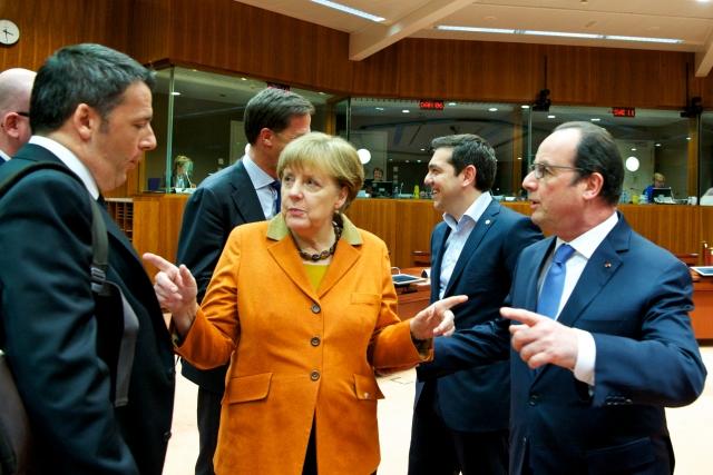 Ренци, Меркел, Ципрас, Оланд
