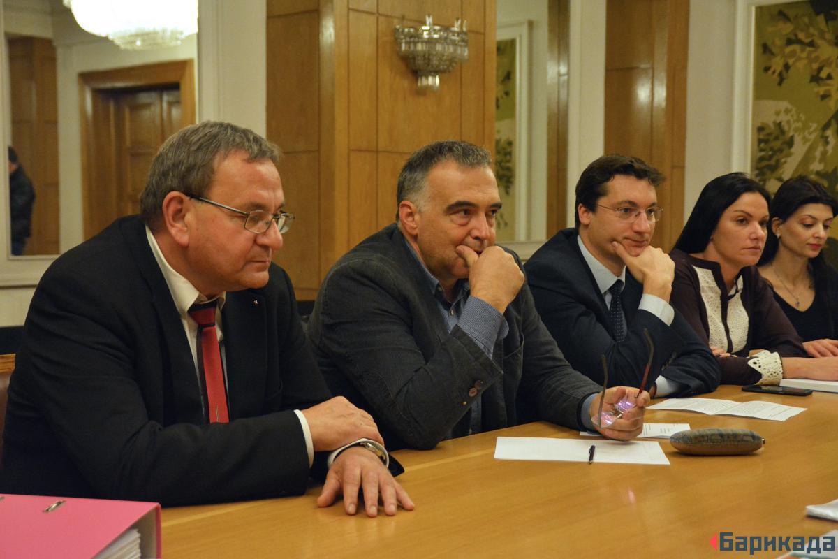 Милко Недялков, Антон Кутев, Крум Зарков - народни представители