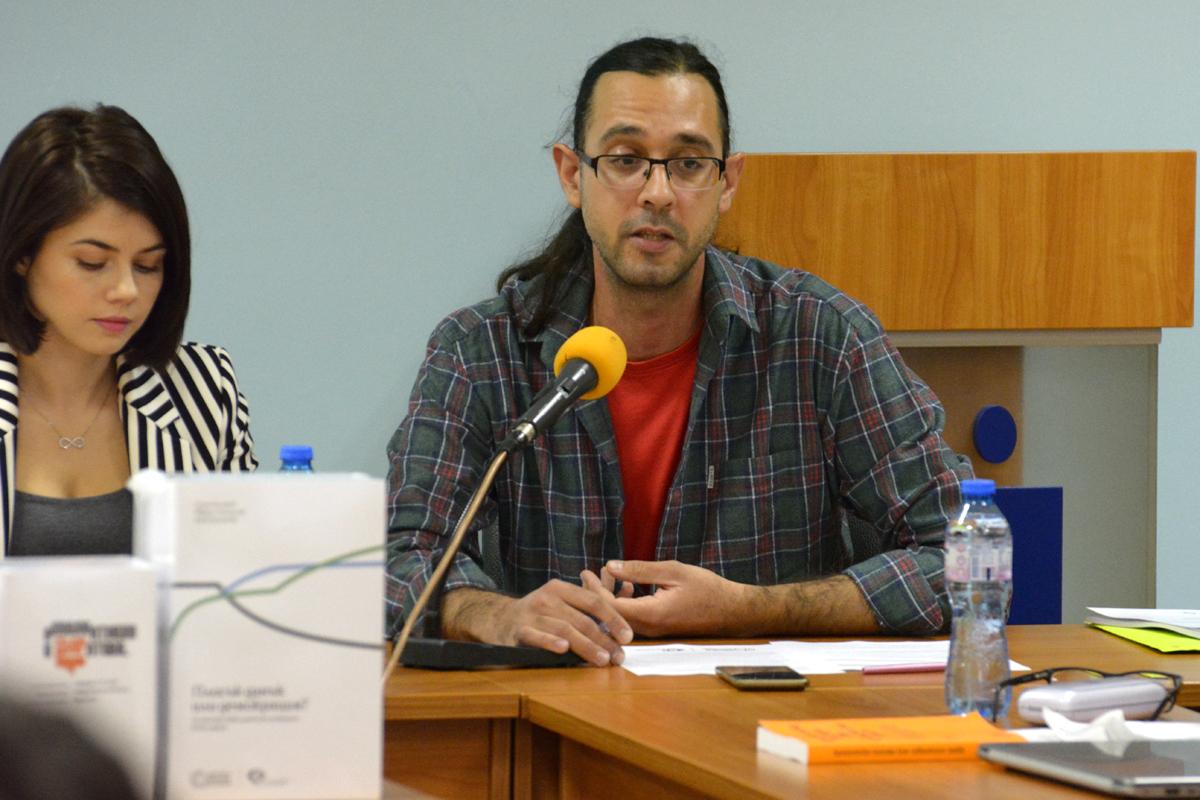 """Огнян Касабов, преподавател по философия в Софийския университет, член на КОИ и Мирена Филипова, член на """"Солидарна България"""""""