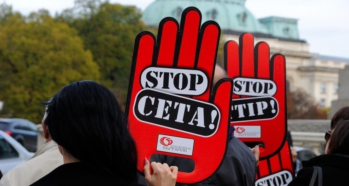 """""""Солидарна България"""" до парламента: Не одобрявайте СЕТА!"""